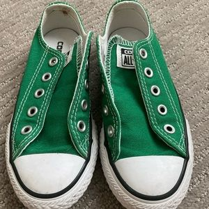 Green Converse Chucks